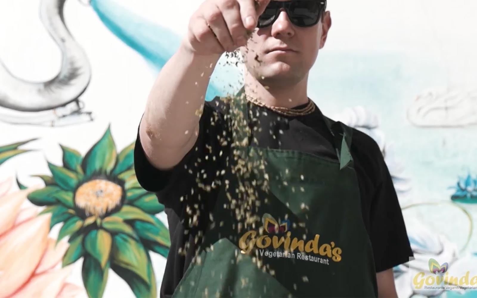 Opening of Vegetarian and Vegan Restaurant Govinda's in Tenerife