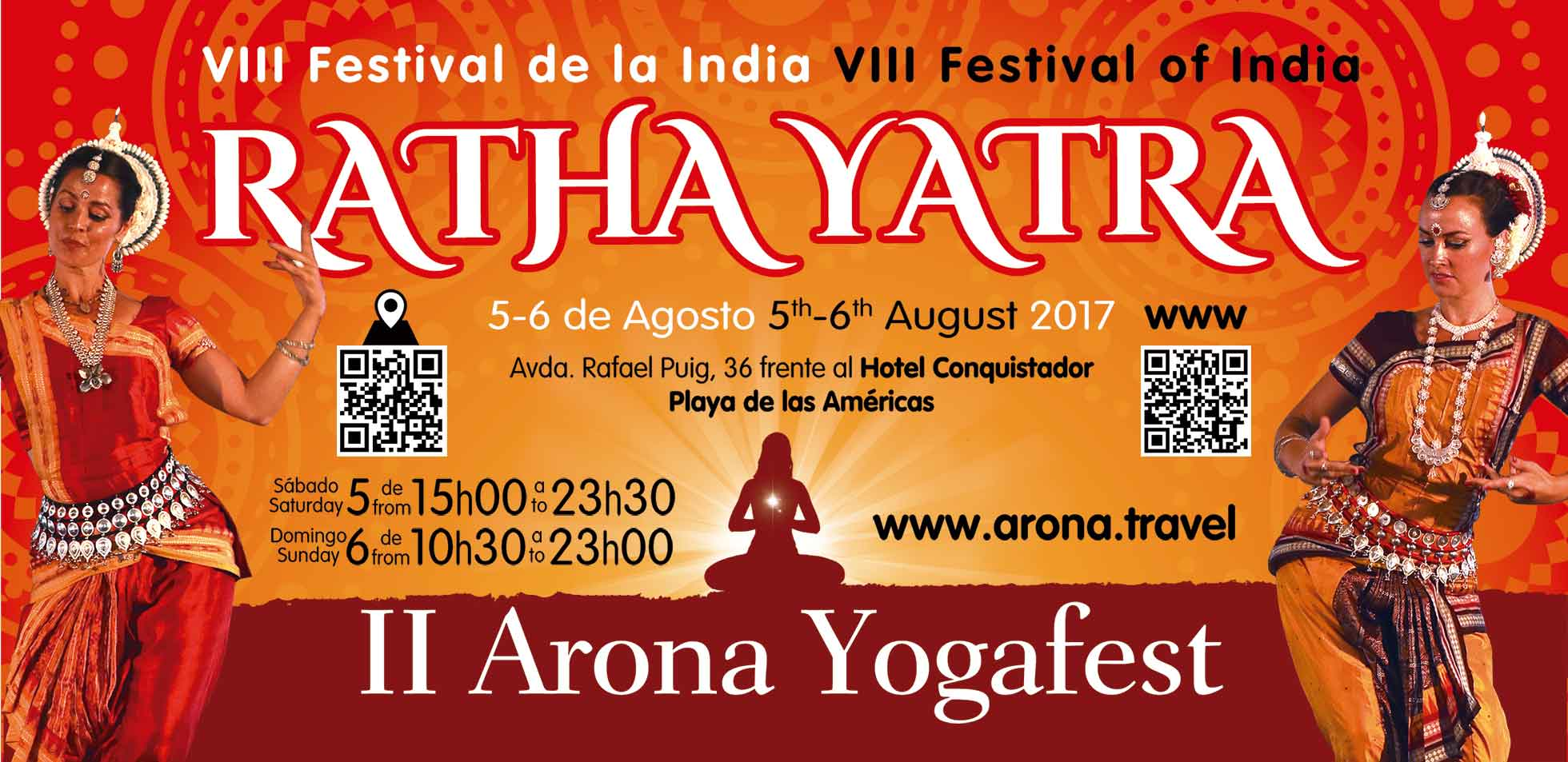 Program of Ratha Yatra Festival in Playa de Las Américas on August 5 & 6, 2017